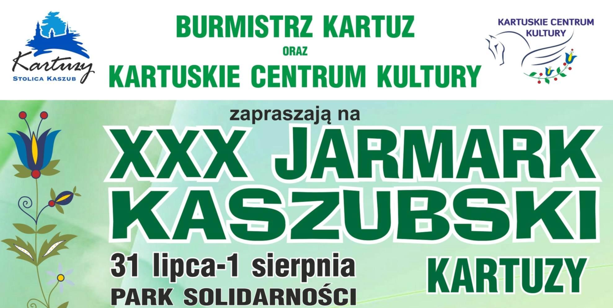 Jarmark Kaszubski w Kartuzach 31.07 - 1.08.2021